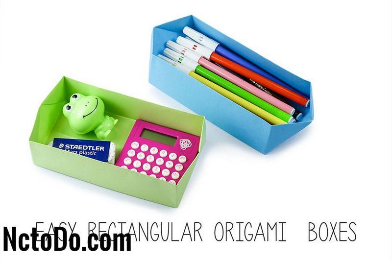 Kolay Dikdortgen Origami Box Talimatlar 2019 Ev Nc To Do