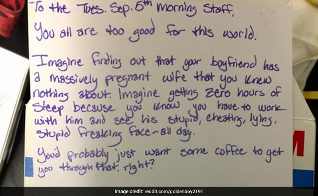 Viral Woman Going Through Bad Breakup Leaves Coffee Shop This Thank