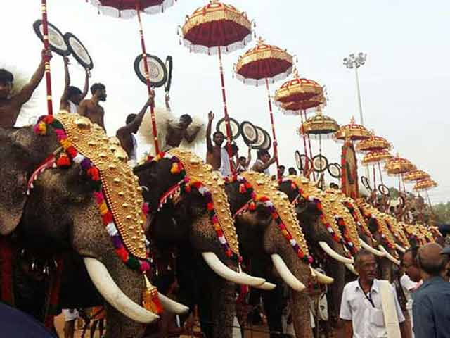 Vishu Hd Wallpapers Apart From Fireworks Injured Elephants In This Temple