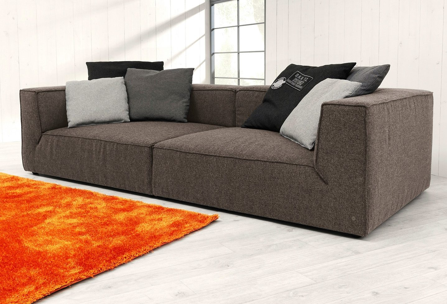 Hocker Beige Tom Tailor Big-sofa »big Cube«, Wahlweise Mit