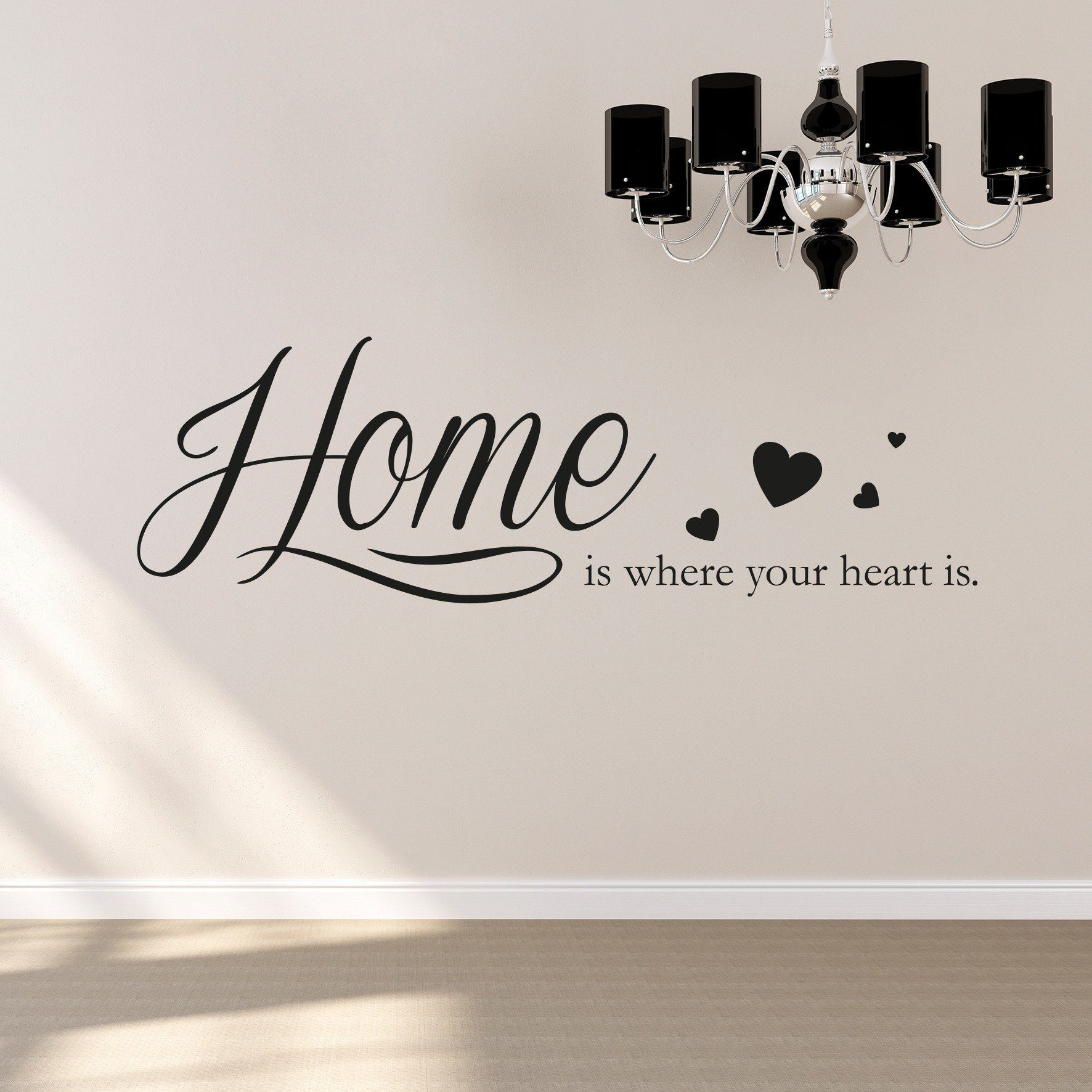 Wandtattoo Schriftzug Queence Wandtattoo Home Is Where Your Heart Is 120 X 30 Cm Online Kaufen Otto