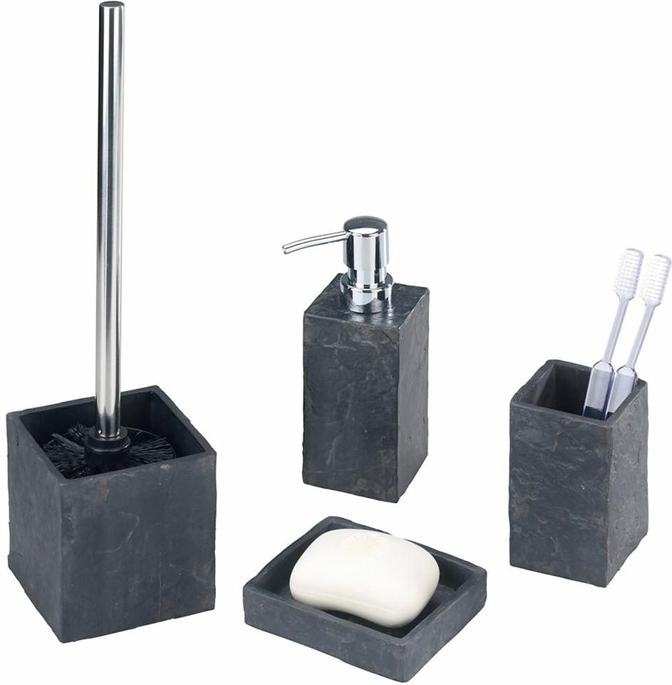 Bad Zubehör Set Wenko Bad-accessoire-set Slate Rock, 4-teilig | Otto
