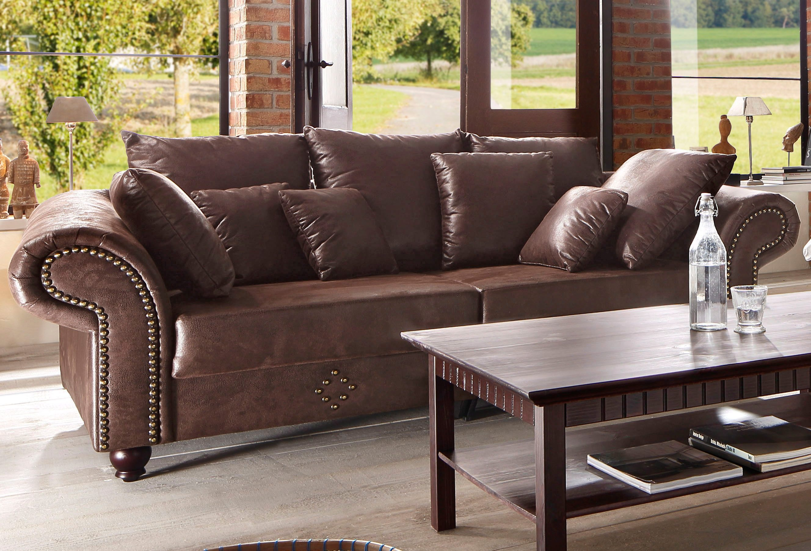 Couch Leder Home Affaire Big-sofa »king George« Online Kaufen | Otto
