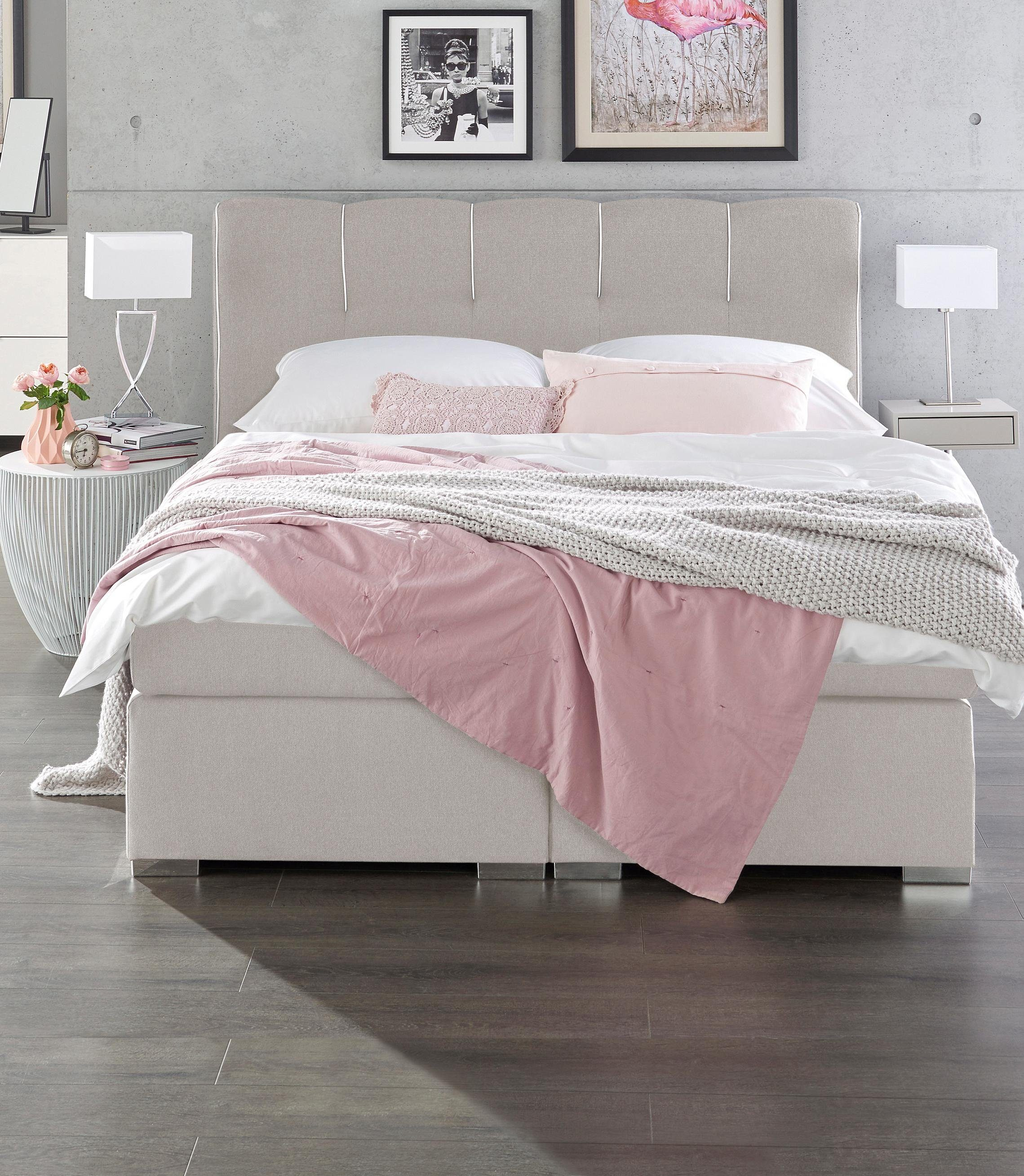 Boxspringbett Hersteller Set One By Musterring Boxspringbett »memphis« Inkl. Topper