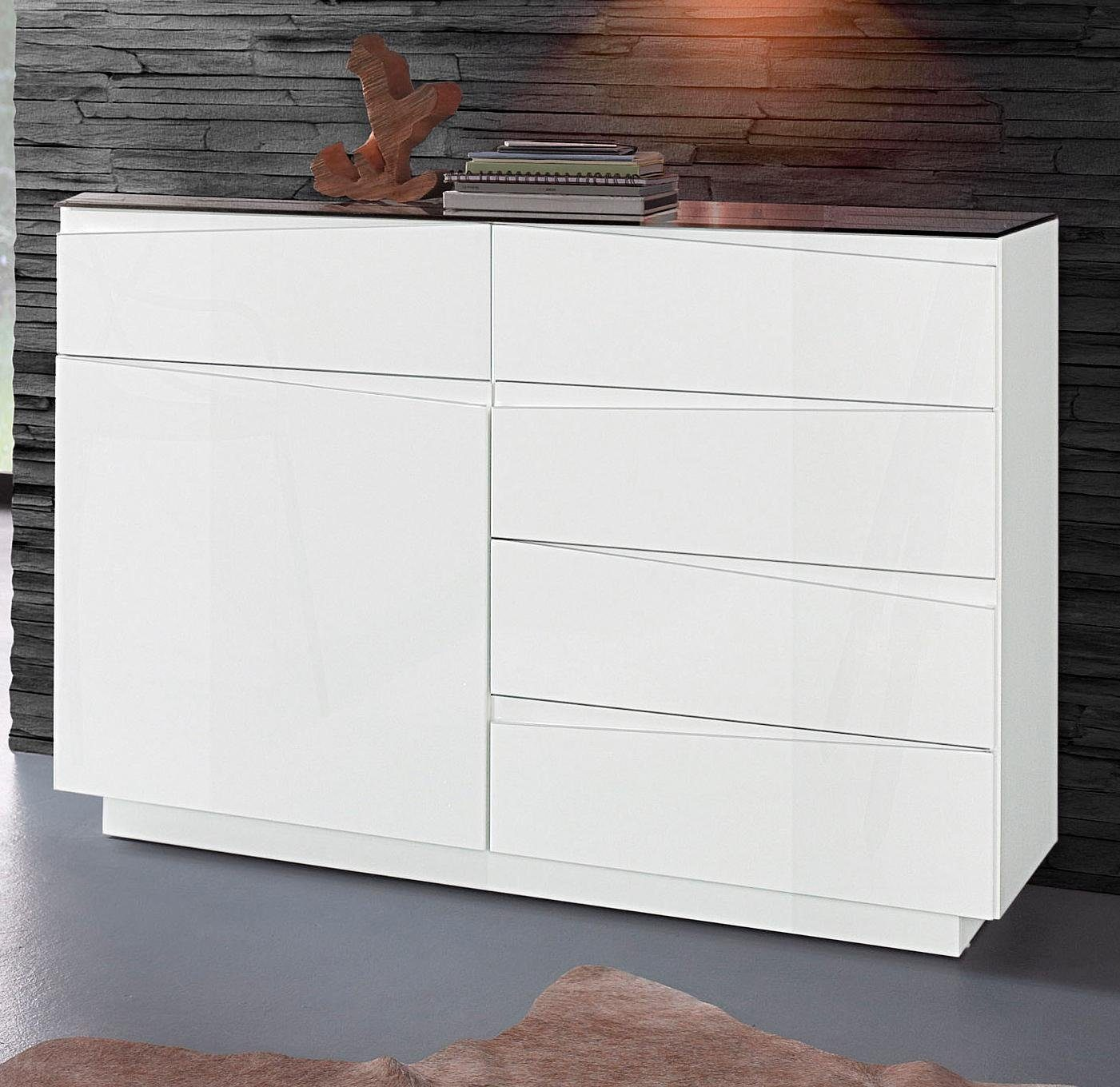 Highboard 120 Cm Breit Sideboard Wei Hochglanz 160 Cm Elegant Best Pretentious Idea