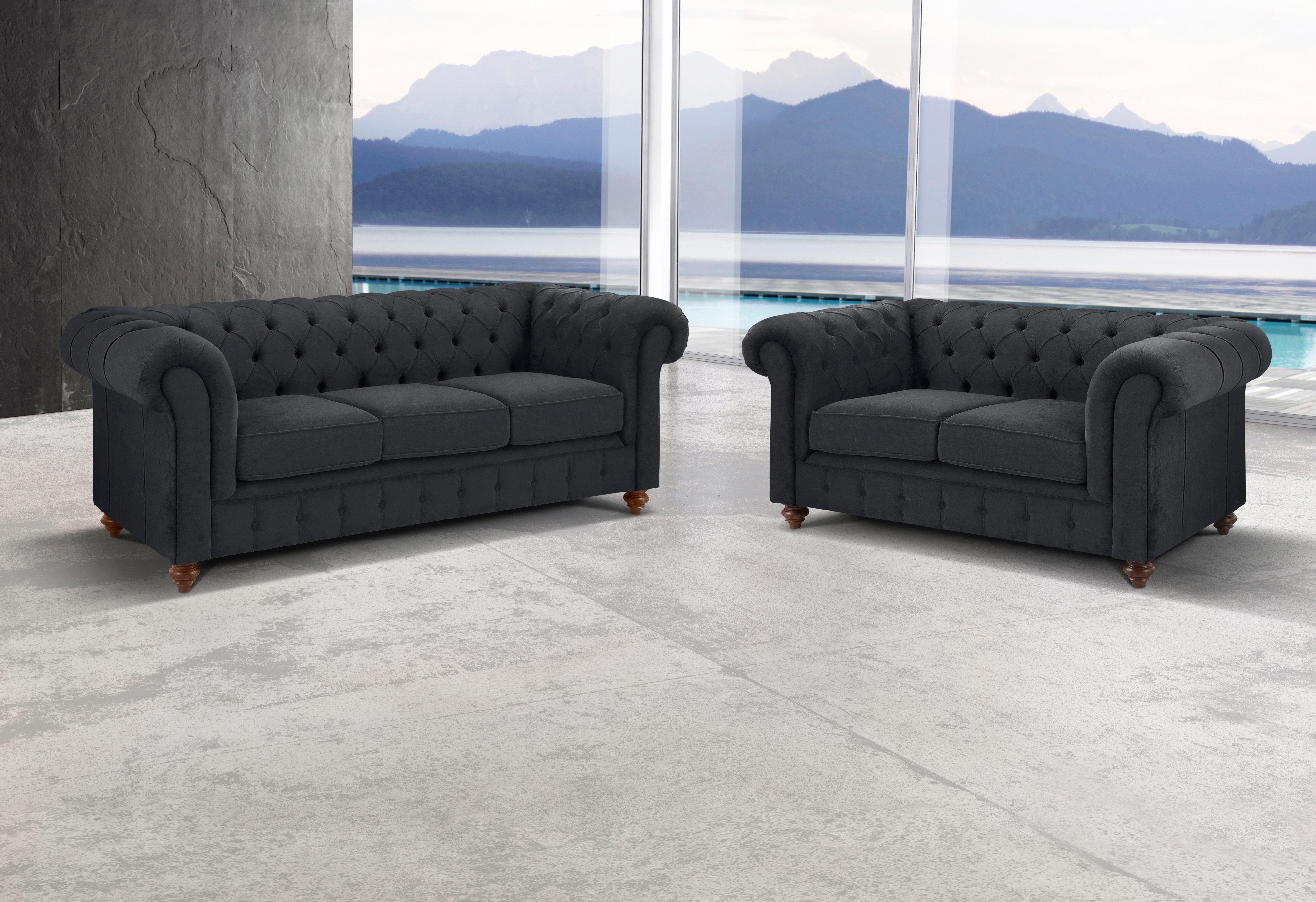 Couch 2 Und 3 Sitzer Premium Collection By Home Affaire Set »chesterfield«, 3