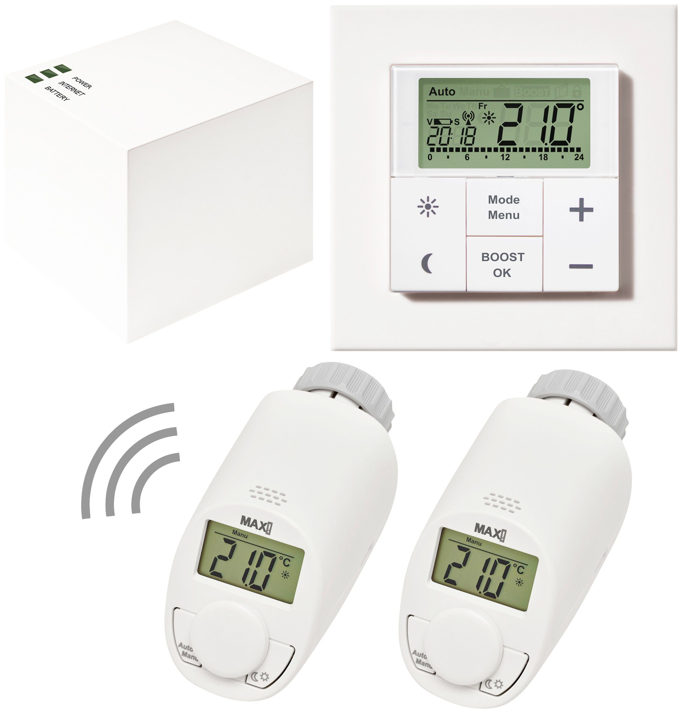 Smart Home Wandthermostat Max Smart Home Set Hauslösung Comfort 4 Tlg Heizkörperthermostat Gateway Wandthermostat Online Kaufen Otto