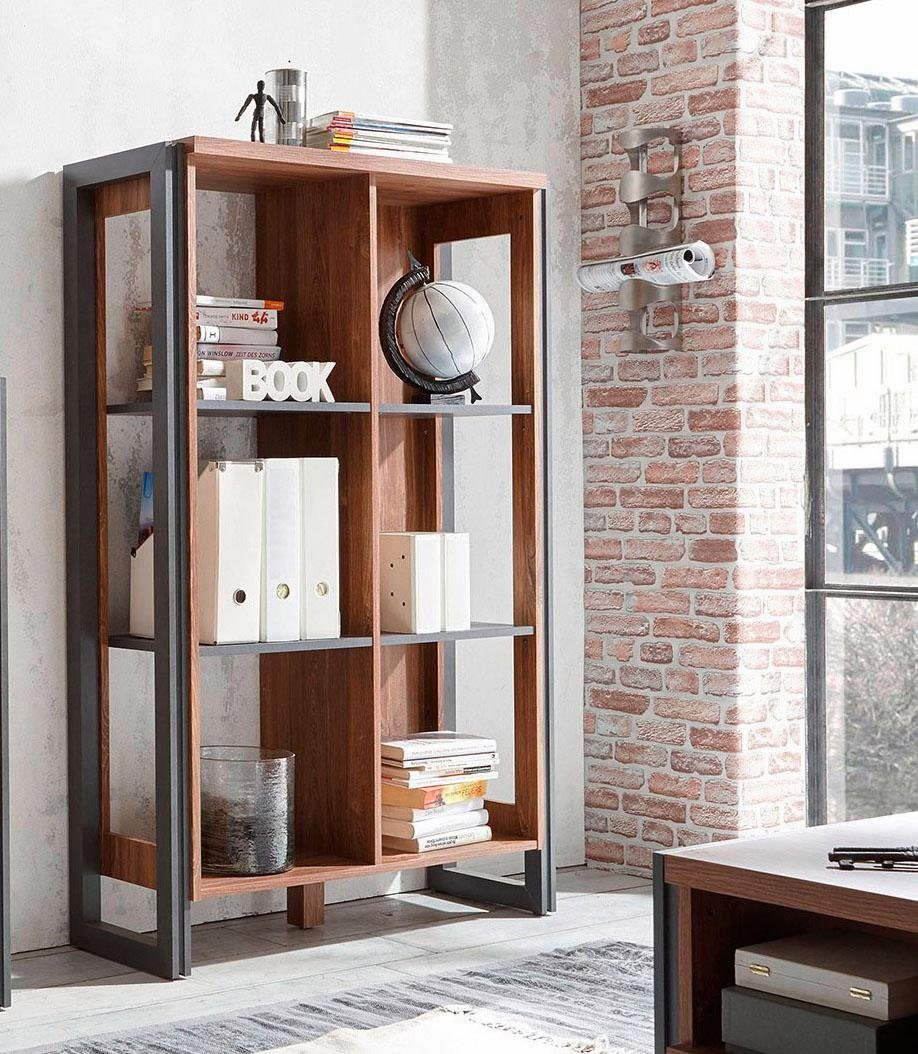 Bücherregal Industrial Home Affaire Regal Detroit Höhe 140 Cm Im Angesagten Industrial Look Online Kaufen Otto