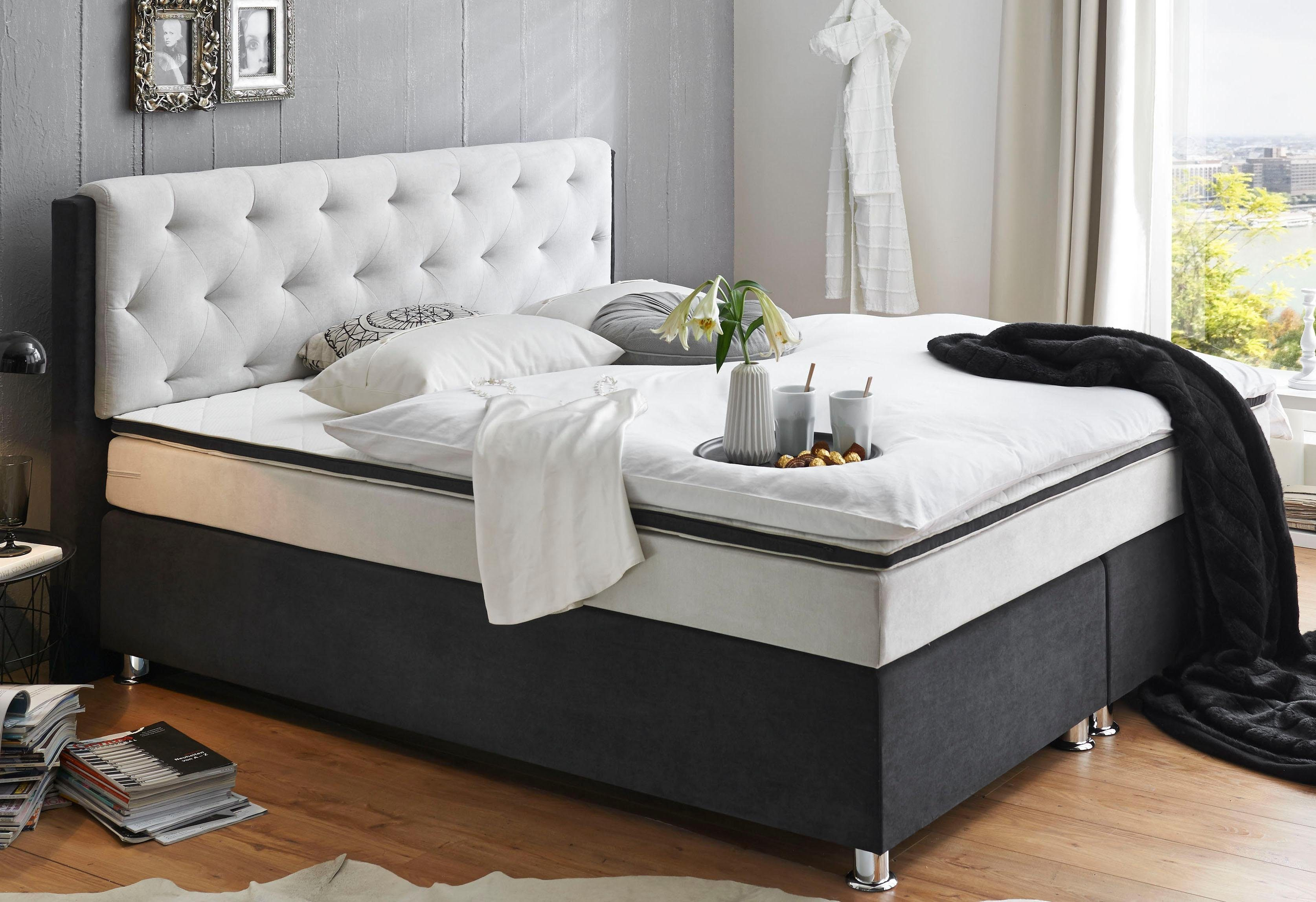 Atlantic Home Collection Boxspringbett Mit Topper Otto