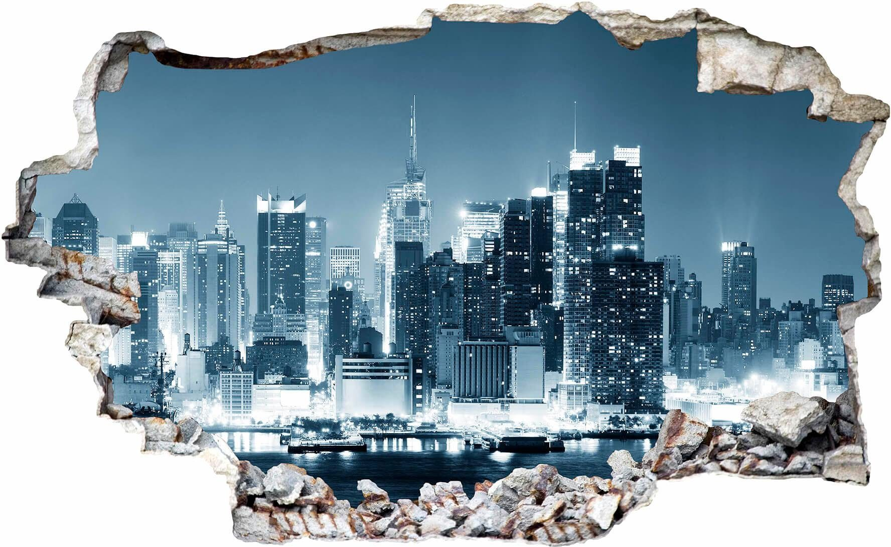 3d Wandsticker Küche 3d Wandtattoo »new York At Night 1«, In 4 Größen | Otto