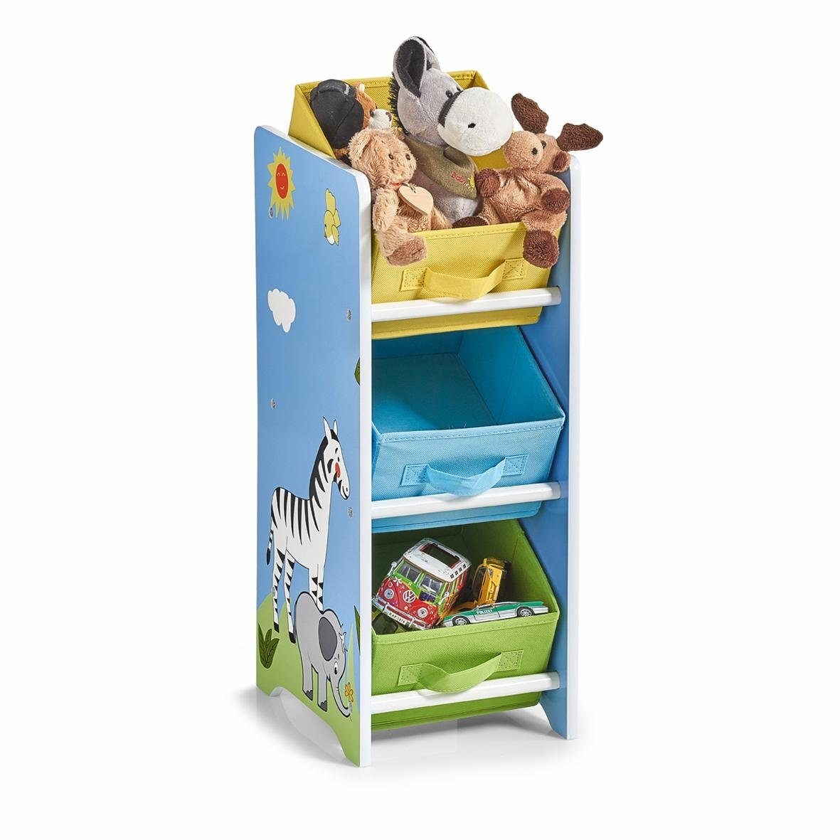 Wandregal Kinderzimmer Blau Zeller Kinder Regal M Vliesboxen Safari Kaufen Otto