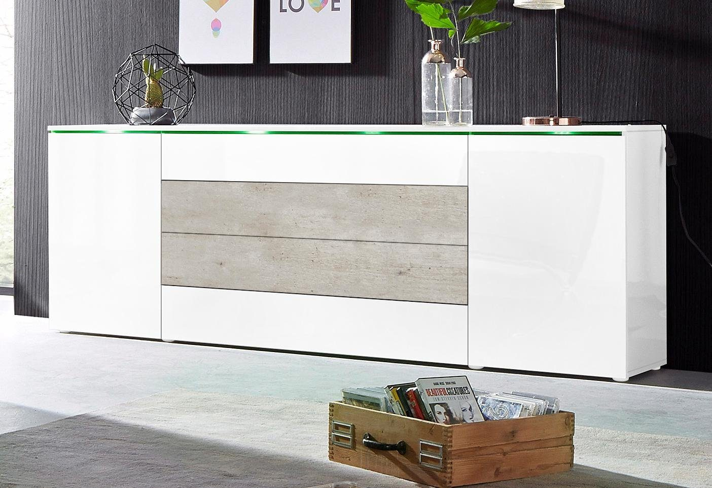 Lowboard 200 Cm Breit Sideboard Beton. Excellent Sideboard Beton With Sideboard
