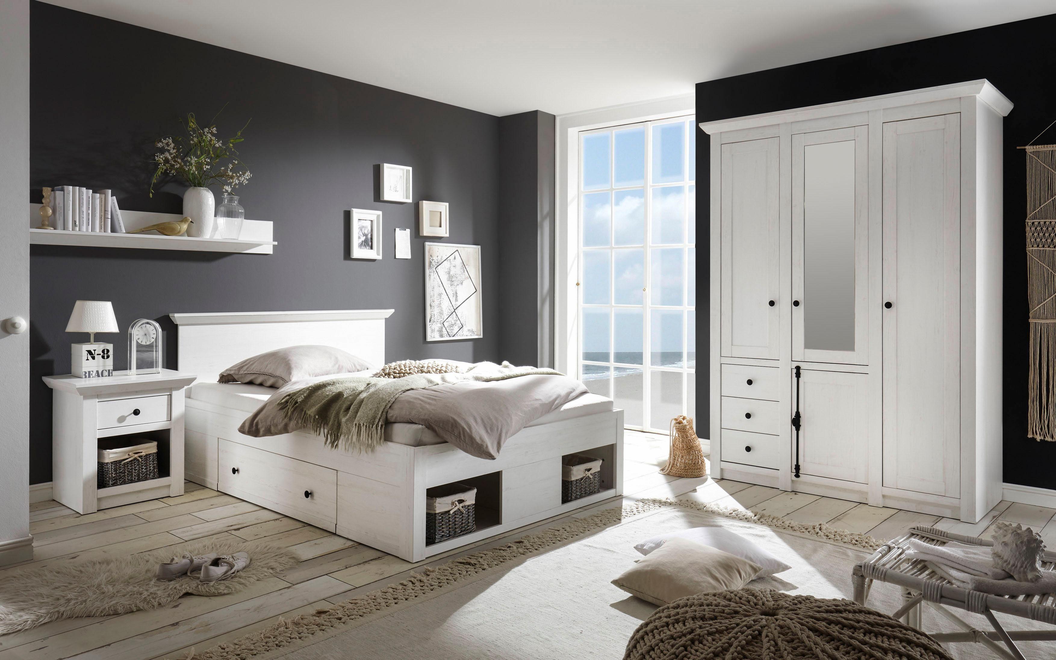 Schlafzimmer Komplett 140 Cm Bett  Home Affaire Schlafzimmer Set 187;california171; Klein Bett
