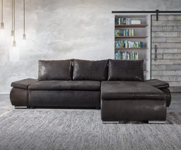 Sofa Schlaffunktion Bettkasten Delife Ecksofa Abilene Anthrazit 260x175 Schlaffunktion