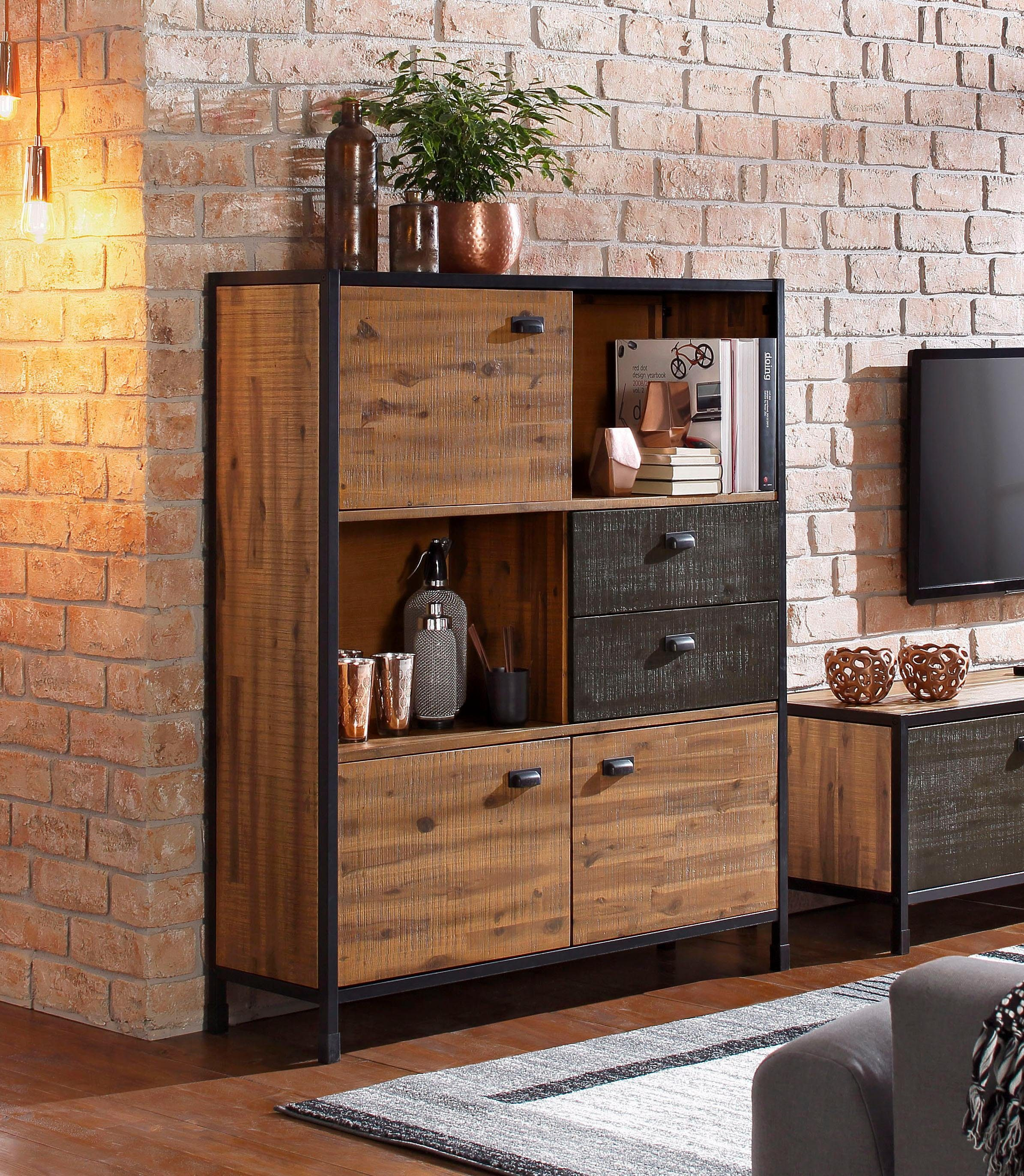 Highboard 120 Cm Breit Home Affaire Highboard Soho Breite 120 Cm Otto