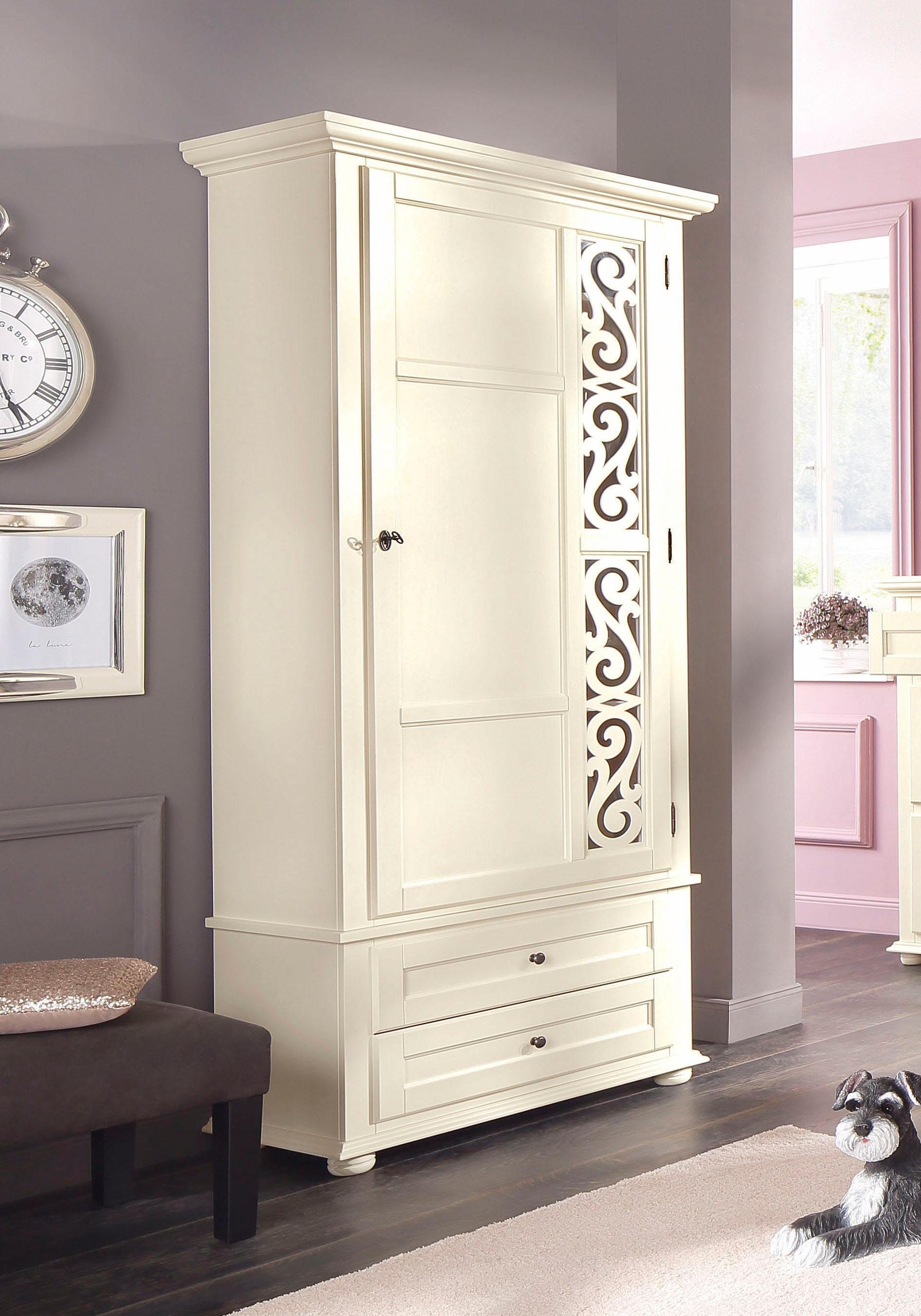 Küche Creme Holz Premium Collection By Home Affaire Garderobenschrank