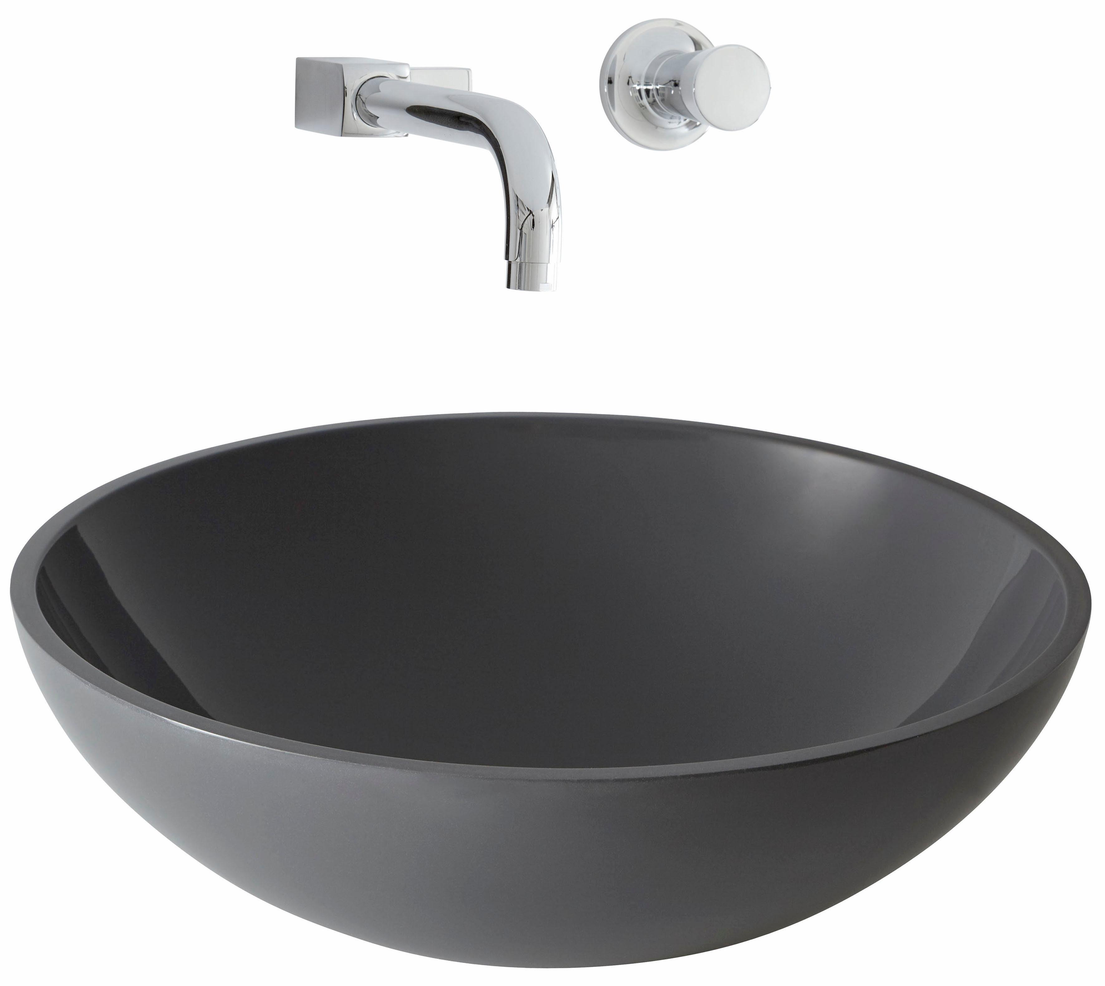 Aufsatzwaschbecken Grau Nero Badshop Aufsatz Glas Waschbecken Blau