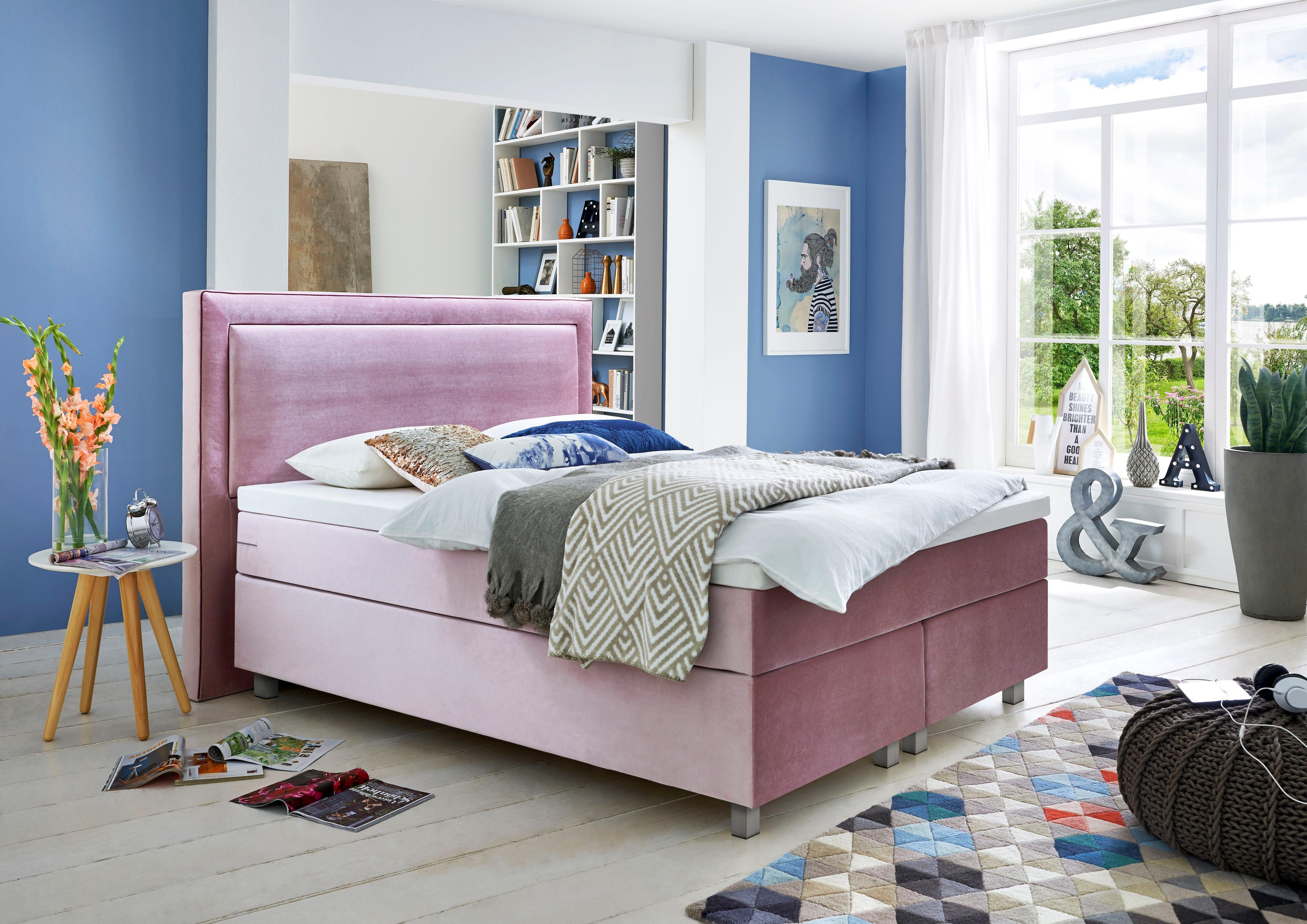 Gmk Home Living Boxspringbett Mit Komfortschaum Topper