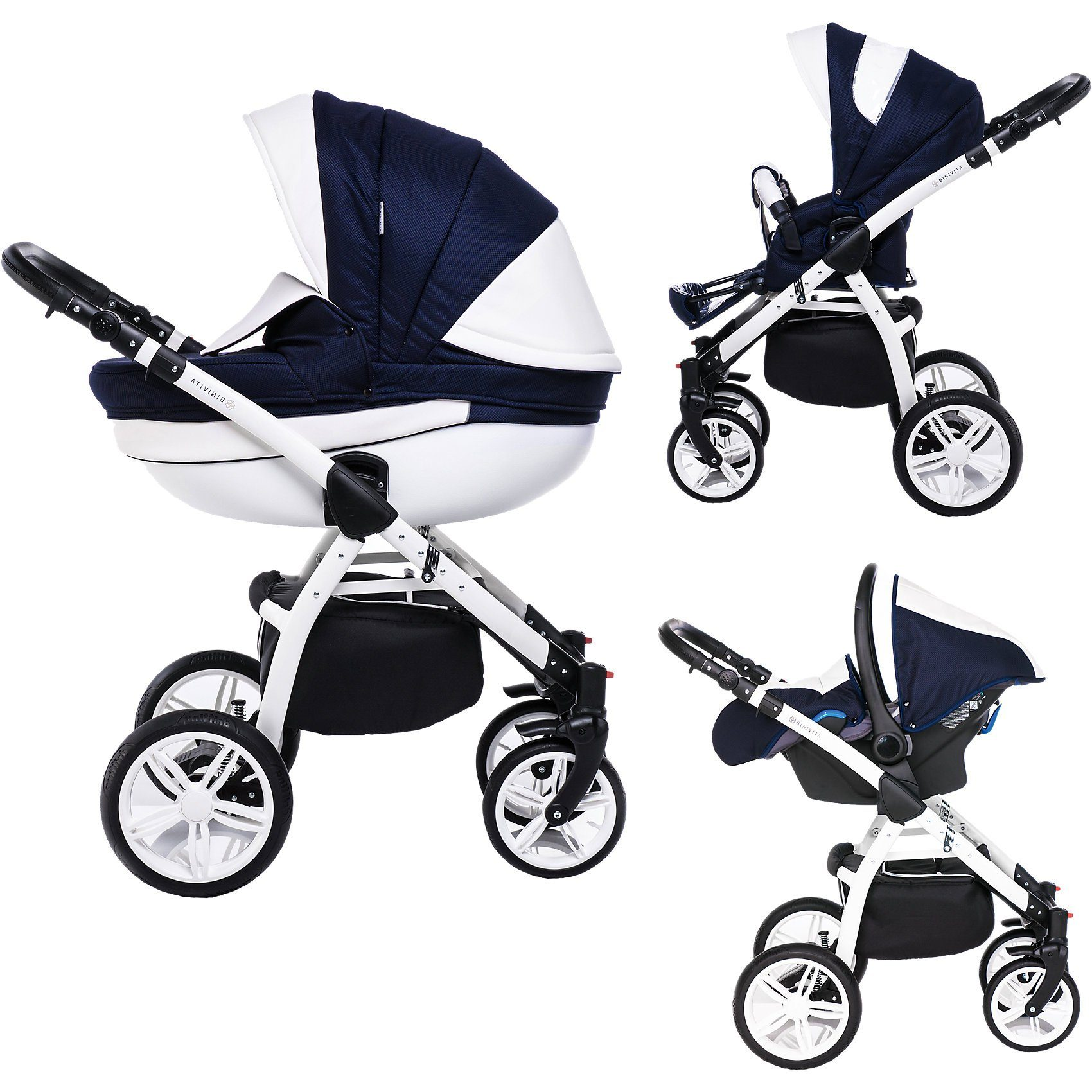 Kombi Kinderwagen Auf Rechnung Binivita Kombi Kinderwagen Isabel 3 In 1 White Collection Blue Online Kaufen Otto