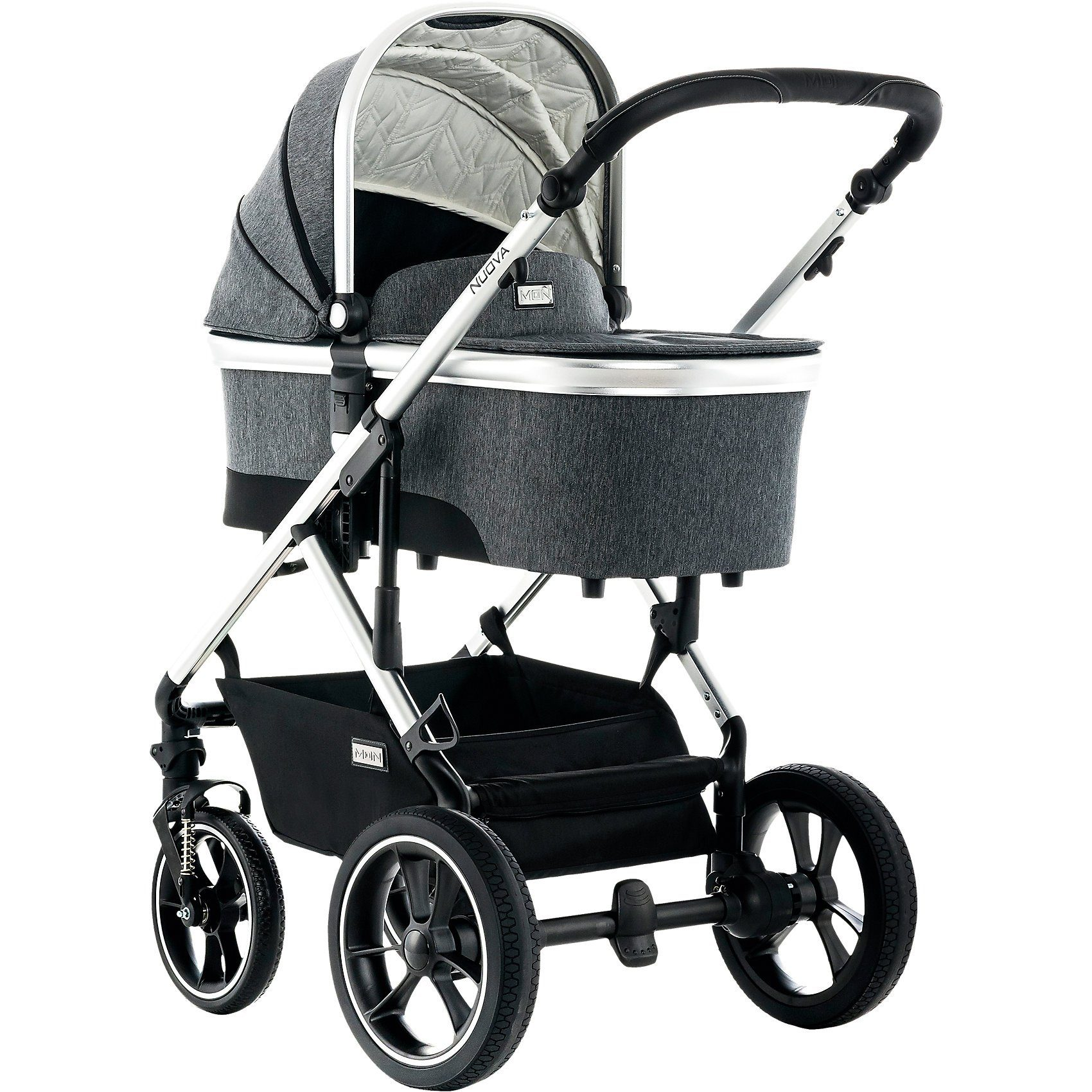 Kombi Kinderwagen 3 In 1 Abc Moon Kombi Kinderwagen Nuova City Stone Fishbone 2018