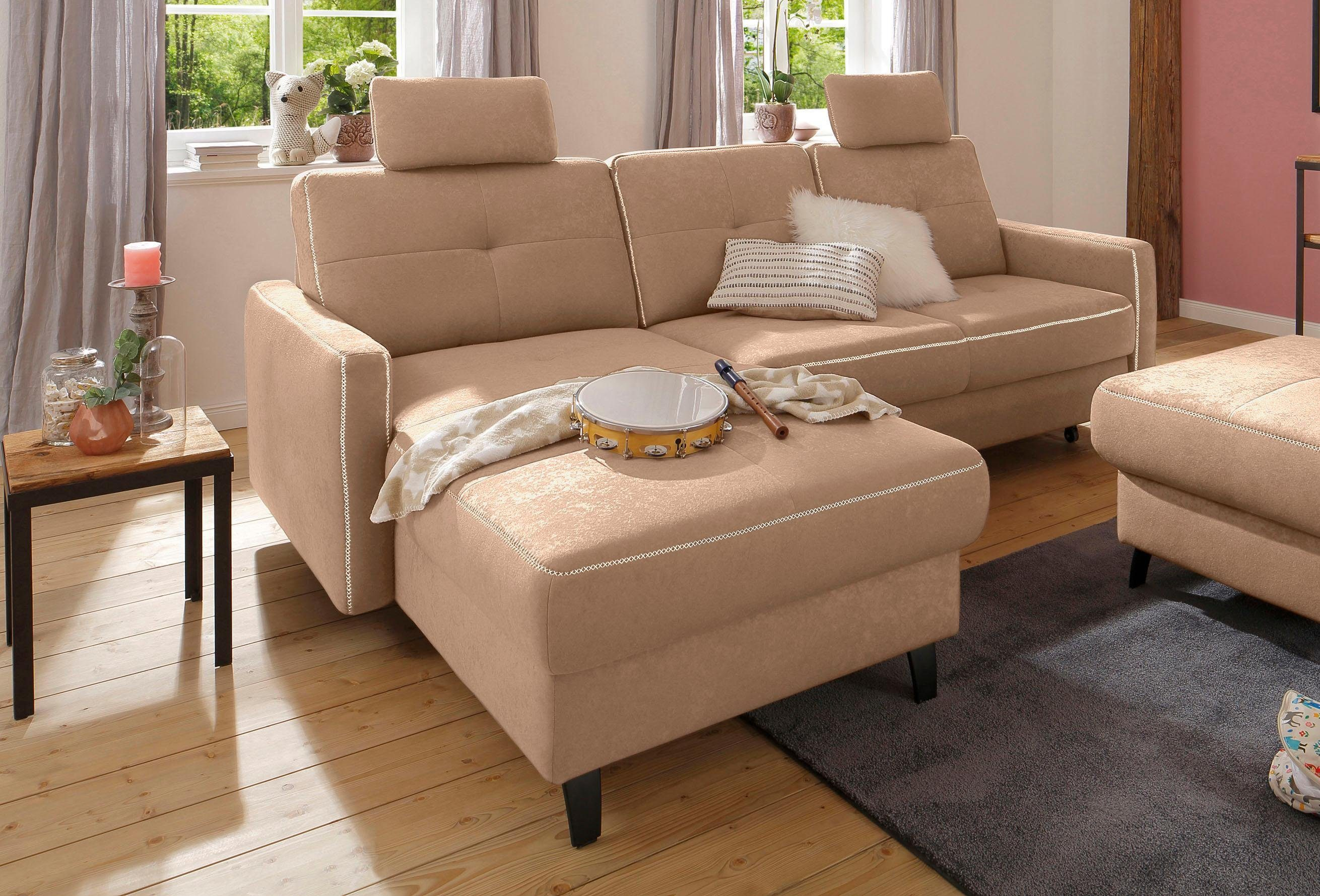 Rattan Ecksofa Mit Bettfunktion Home Affaire Ecksofa Antonio Recamiere Federkern Wahlweise Mit Bettfunktion Und Bettkasten