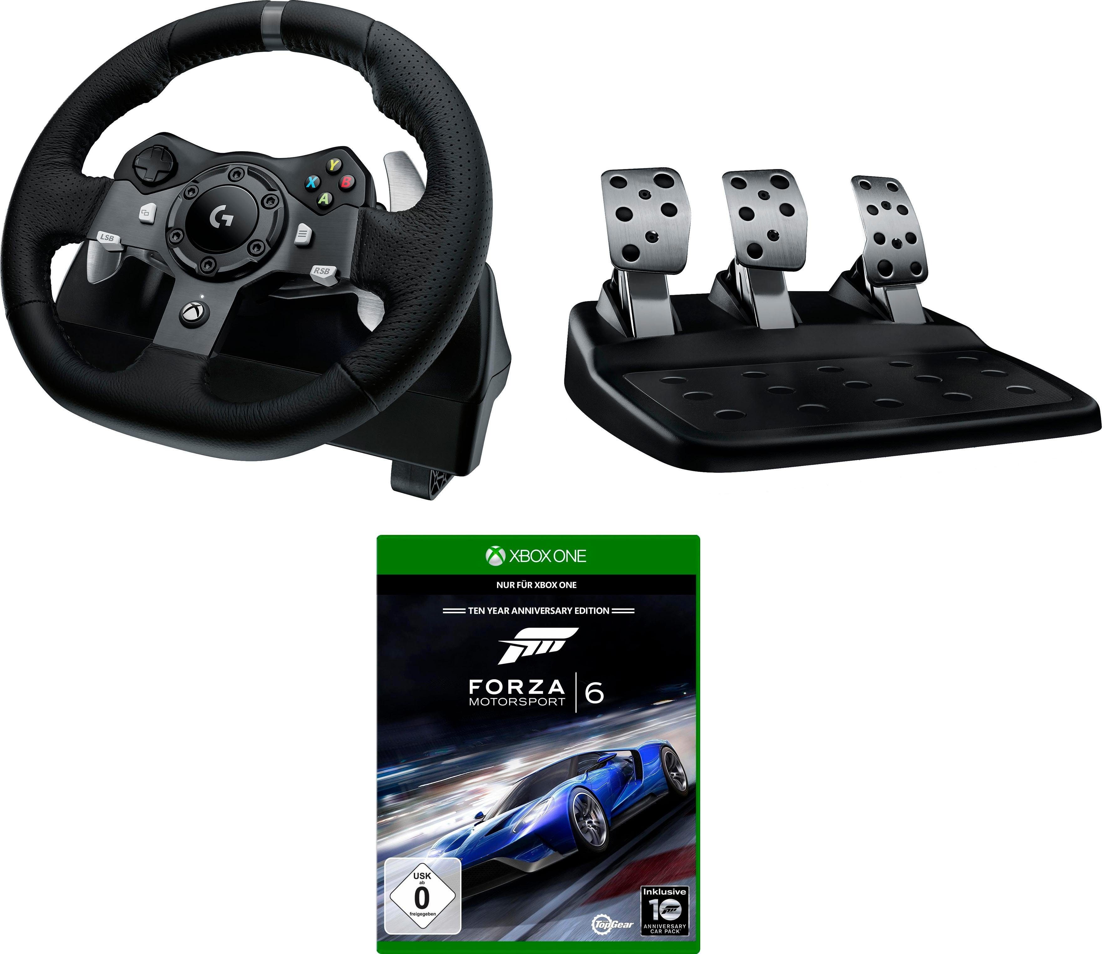 Gaming Sessel Mit Lenkrad Logitech Games G920 Driving Force Racing Wheel Usb Emea Inkl Forza Motorsport 6 Xbox One Lenkrad Set Online Kaufen Otto