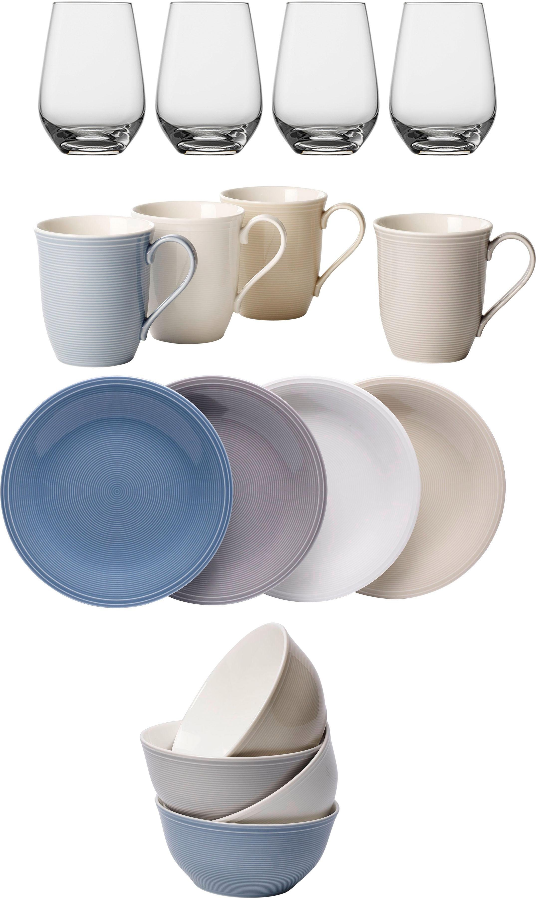 Geschirr Spülmaschinenfest Vivo Villeroy & Boch Group Kombiservice »color Loop« (16