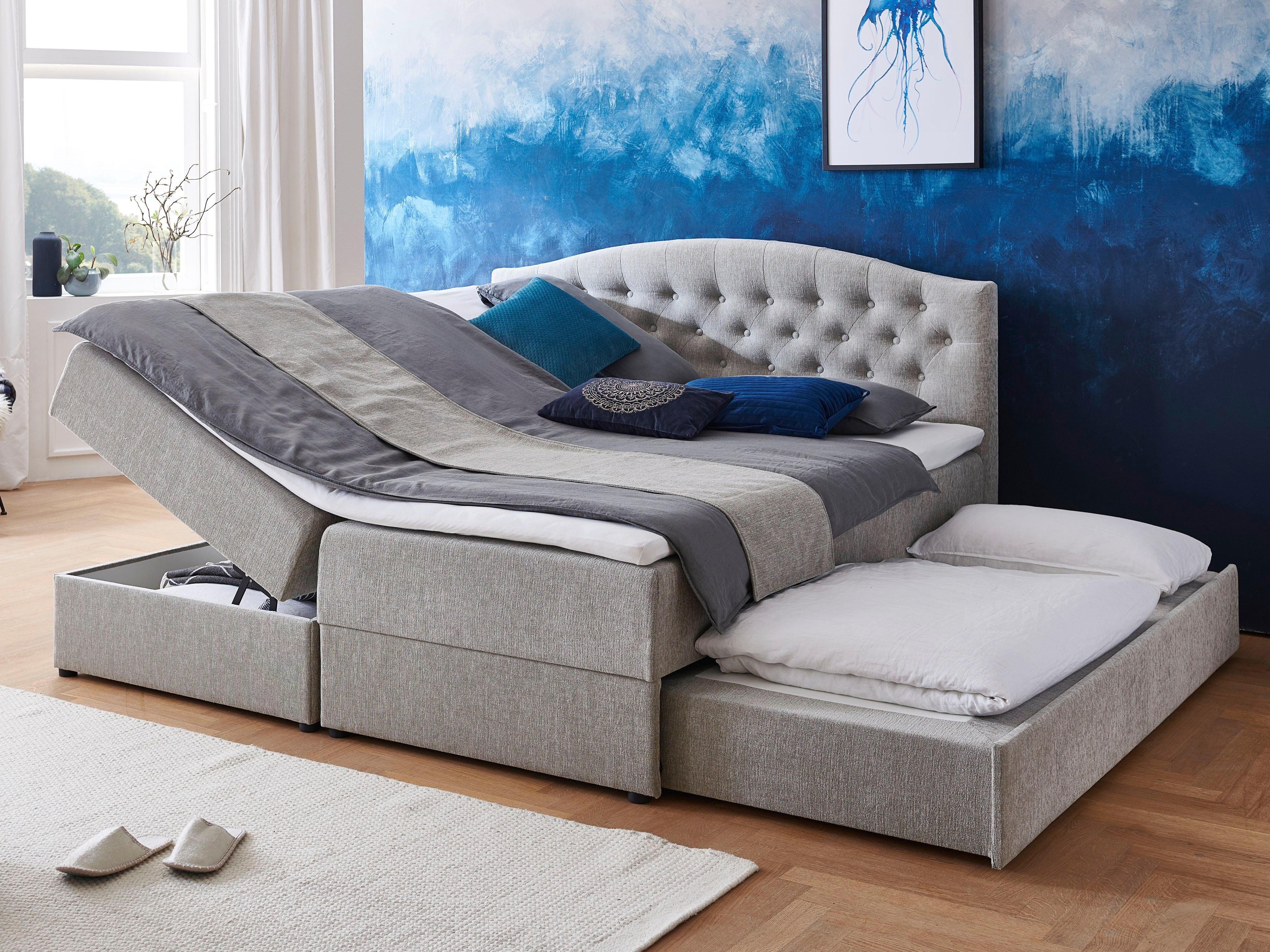 Atlantic Home Collection Boxspringbett Mit Topper