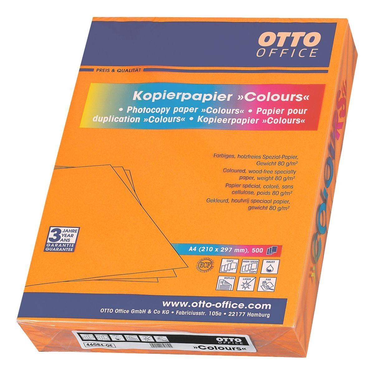 Farbiges Druckerpapier Ottooffice Standard Farbiges Papier Colours Otto