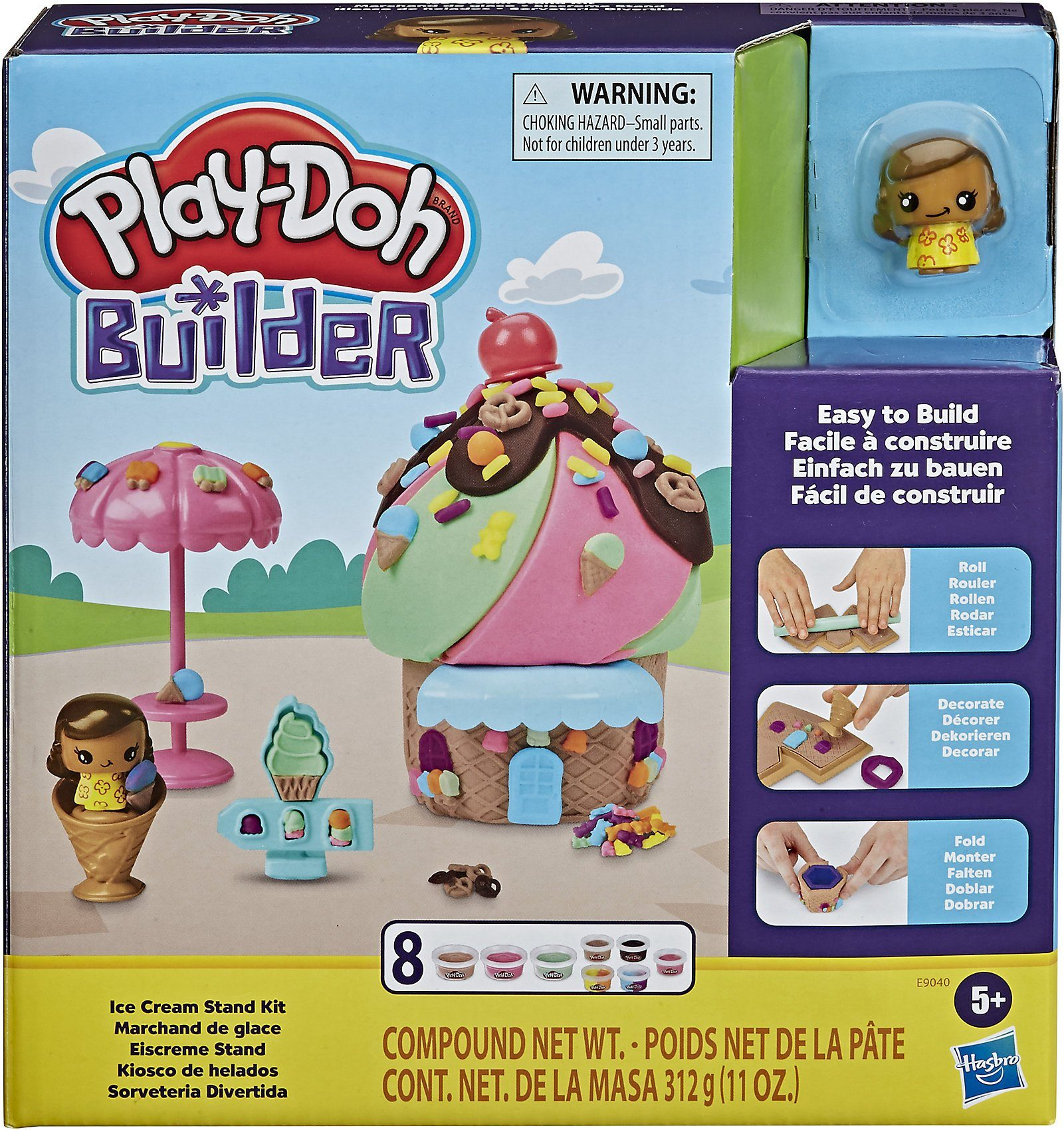 Play Doh Knet Küche Hasbro Knete »play-doh Builder Eiscreme Stand« | Otto