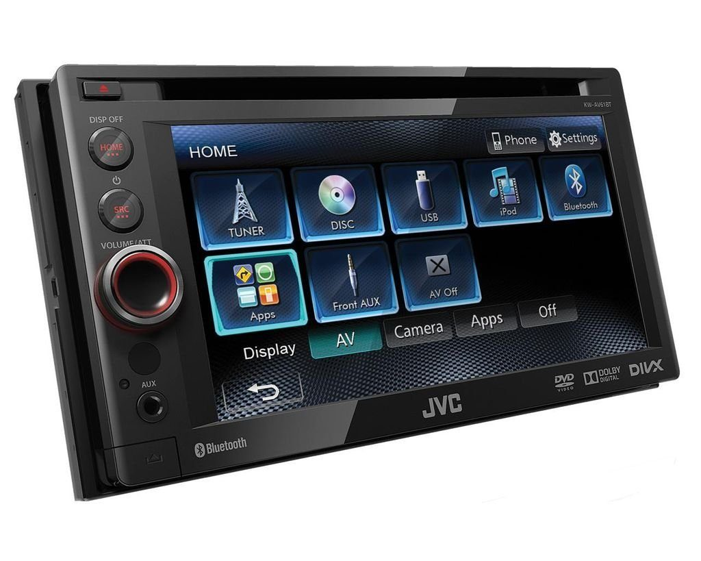 Usb Möbel Jvc Audio-system (jvc Kw-av61bte - 2-din, Dvd, Bluetooth