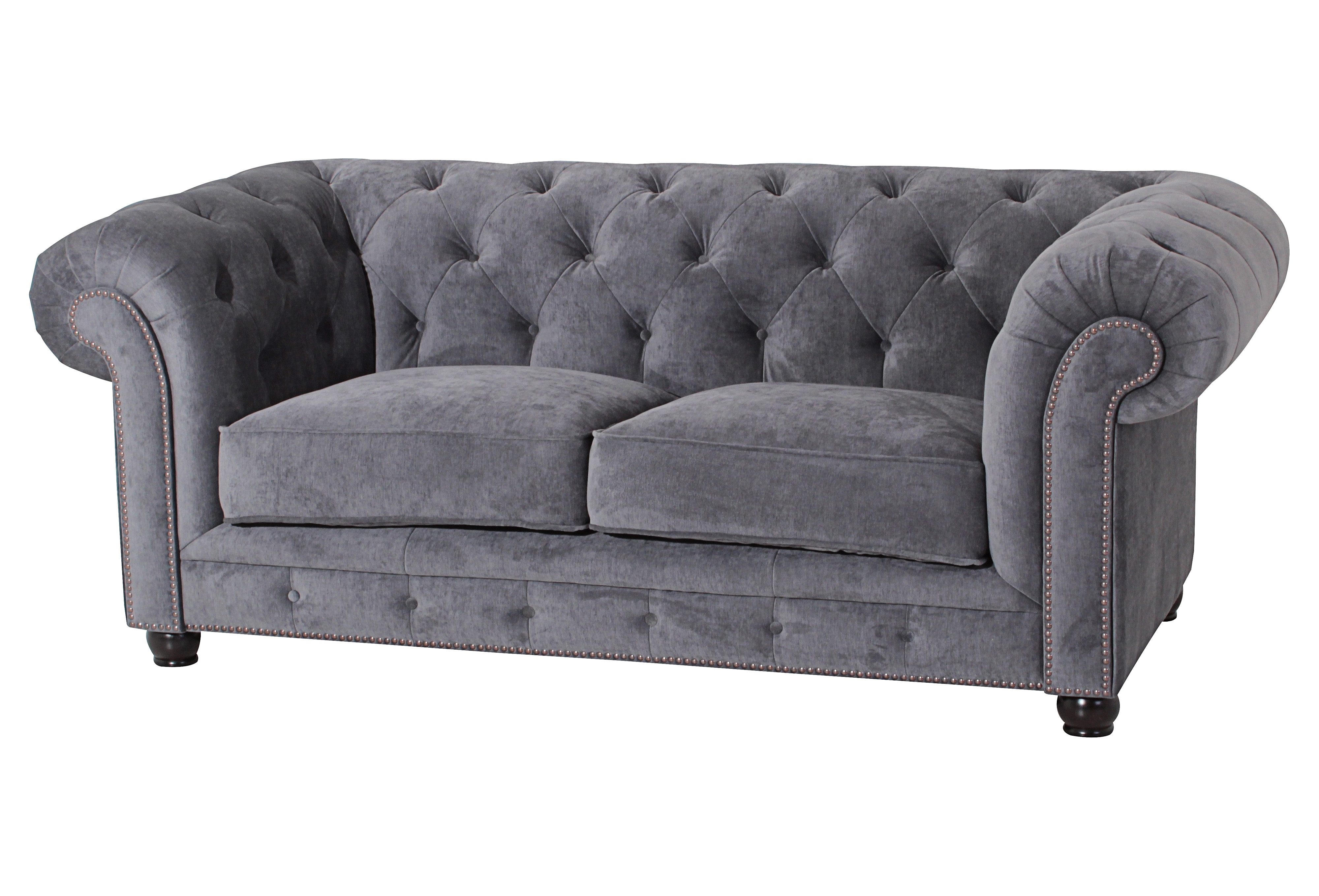 Sofa Set Grau Max Winzer® Chesterfield Sofa »old England«, Mit Edler
