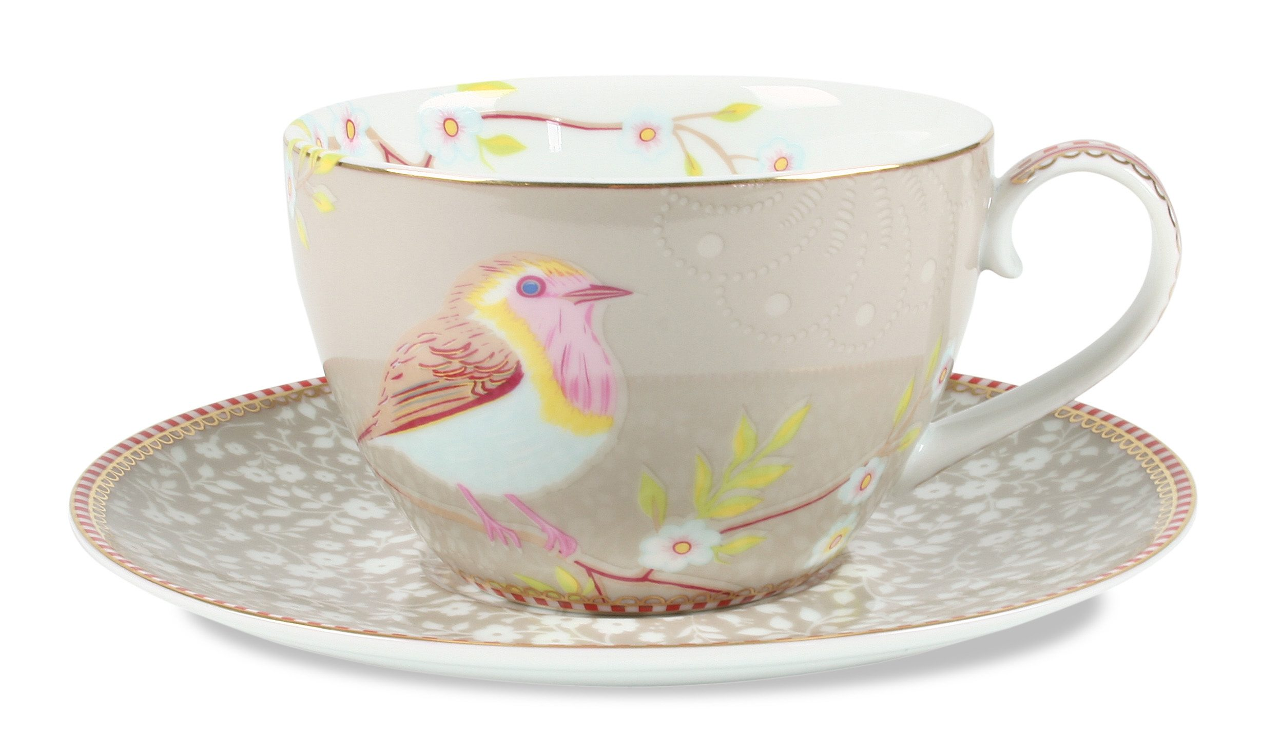 Bone China Porzellan Kaffeetasse Mit Untertasse »early Bird« (12er-set), Pip