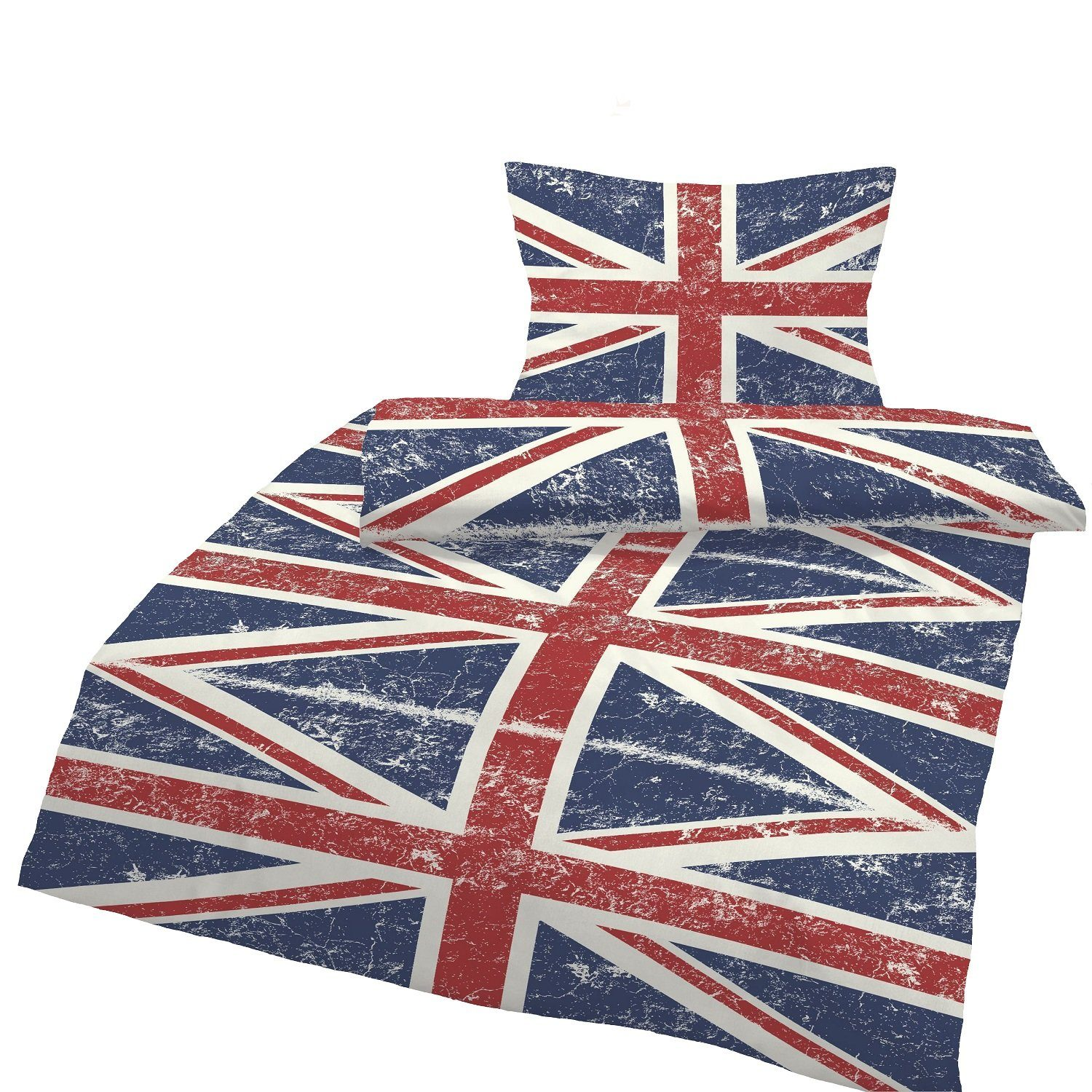 Bettwäsche England Flagge One Home Union Jack Vintage