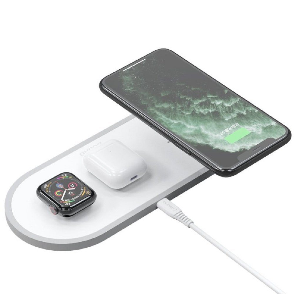Dudao Dudao 3in1 Qi Wireless Charger Pad 10w Ladestation Ladegerät Weiß Für Apple Watch Airpords Iphone 11 Pro Max Xr Xs Max X 8 Plus Wireless Charger Online Kaufen Otto