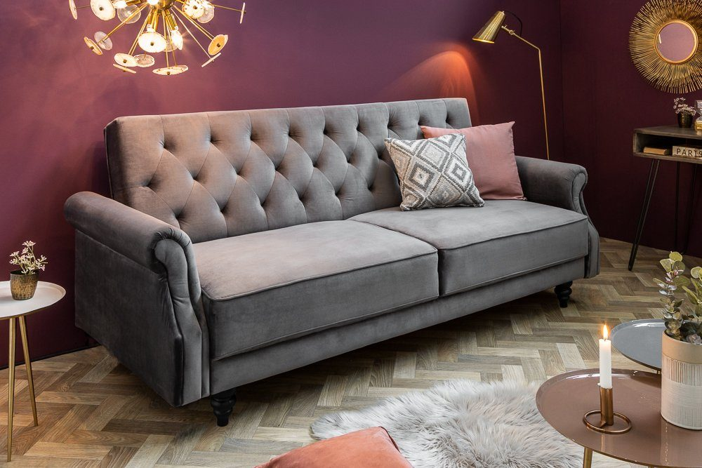 Sofas Und Couches Riess-ambiente Sofa »maison Belle Affaire 220cm Grau«, 1 ...