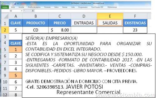 Contabilidad 2017 en excel íntegro Inventario en Pasto teléfono - formato inventario en excel