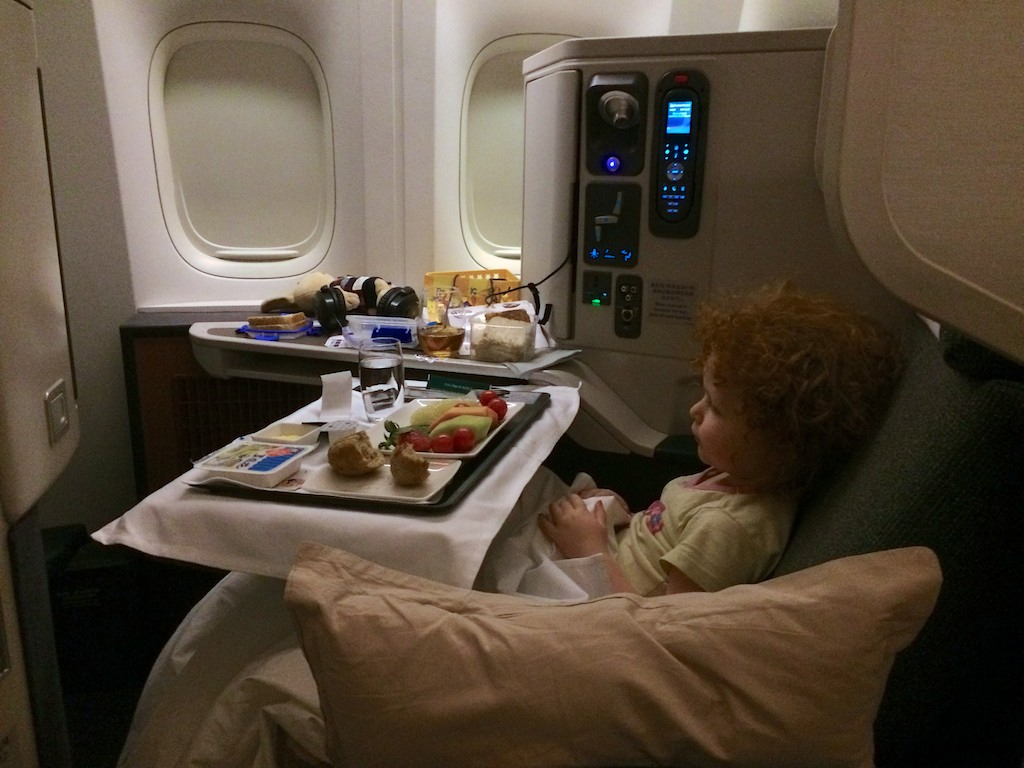 Handy First Hand Cathay Pacific Business Class Flight Review