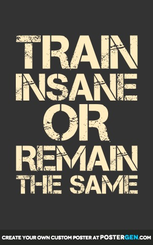 Gym Motivation Quotes Wallpapers Train Insane Poster Maker Fitness Posters Custom