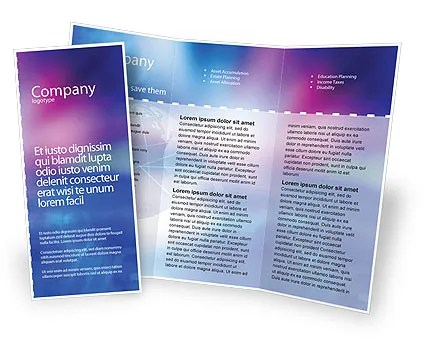 Blue Earth Abstract Brochure Template Design and Layout, Download - Free Pamphlet Templates Microsoft Word
