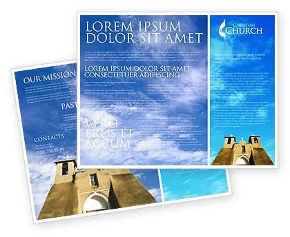 San Francisco de Asis Mission Church Brochure Template Design and - religious brochure