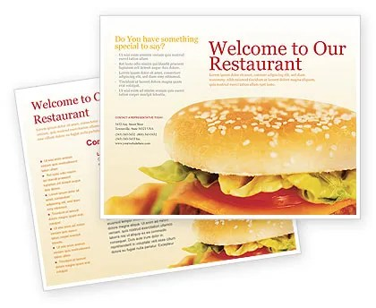 Fast Food Brochure Template Design and Layout, Download Now, 01741