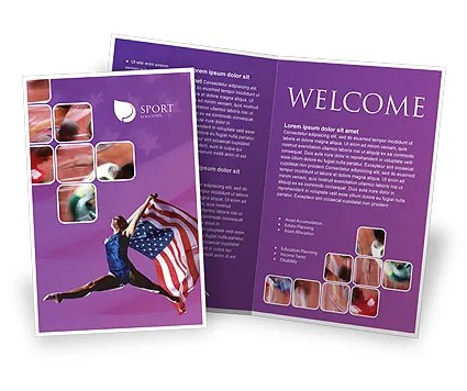American Sports Brochure Template Design and Layout, Download Now - sports brochure