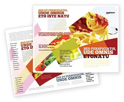 Italian Food Brochure Template Design and Layout, Download Now