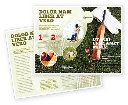 Cricket Field Brochure Template Design and Layout, Download Now - sports brochure