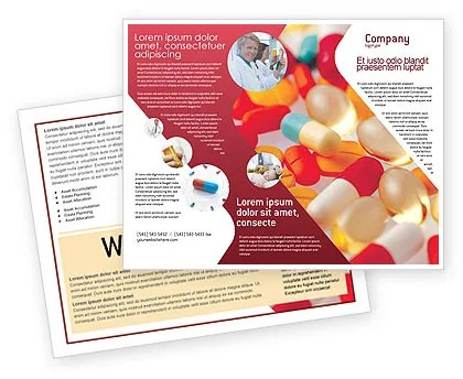 Pills In Collage Brochure Template Design and Layout, Download Now - medical brochures templates