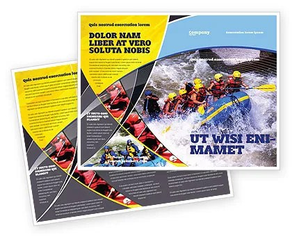 Rafting Brochure Template Design and Layout, Download Now, 02380 - sports brochure