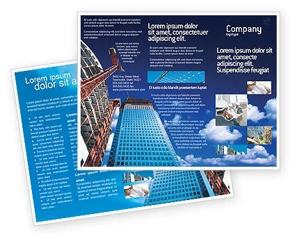 Building Company Brochure Template Design and Layout, Download Now