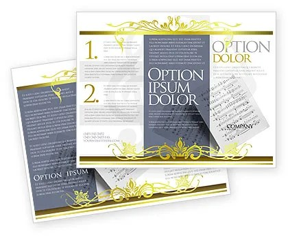 Printed Music Brochure Template Design and Layout, Download Now - music brochure