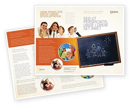 Kids and School Brochure Template Design and Layout, Download Now